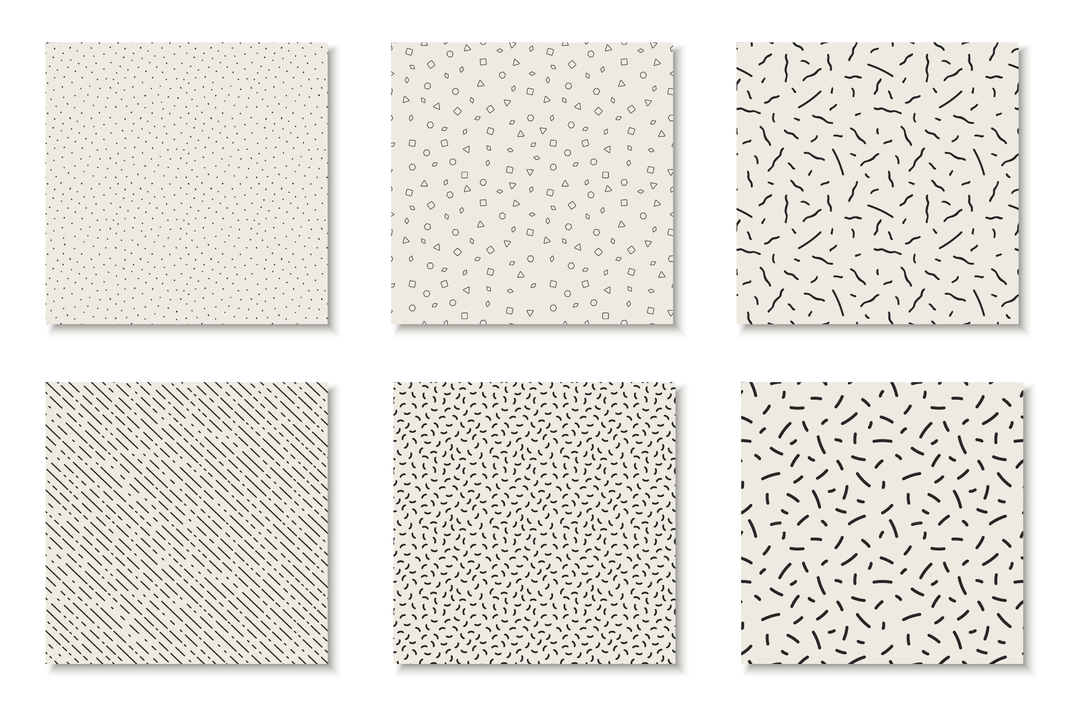 Seamless memphis vector patterns - swatches library. example image 14