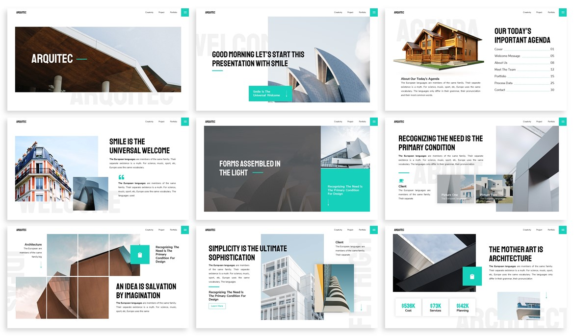 Arquitec - Architecture Powerpoint Template example image 2