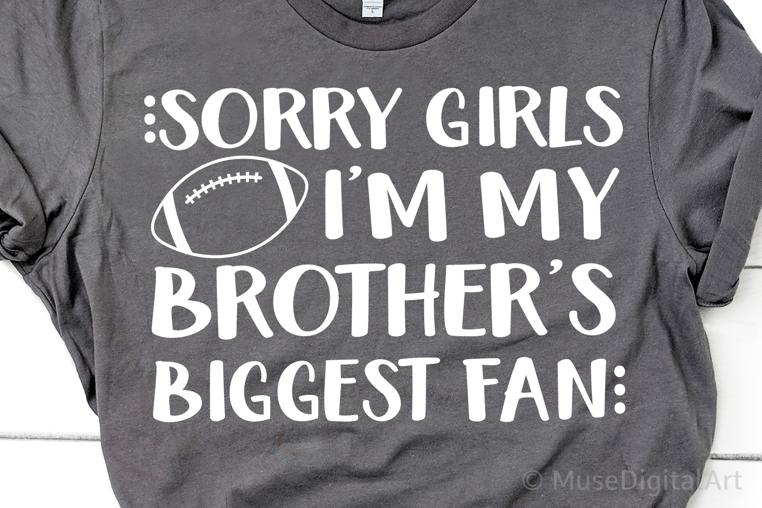 Sorry Girls Im My Brothers Biggest Fan Svg, Football Brother example image 1