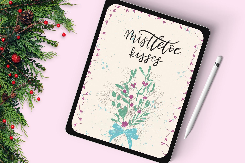 Mistletoe brush box for Procreate example image 8
