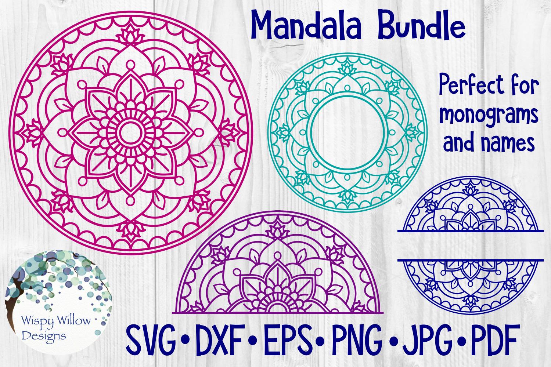 Download Mandala Bundle SVG Bundle | Monogram Mandala | Half ...