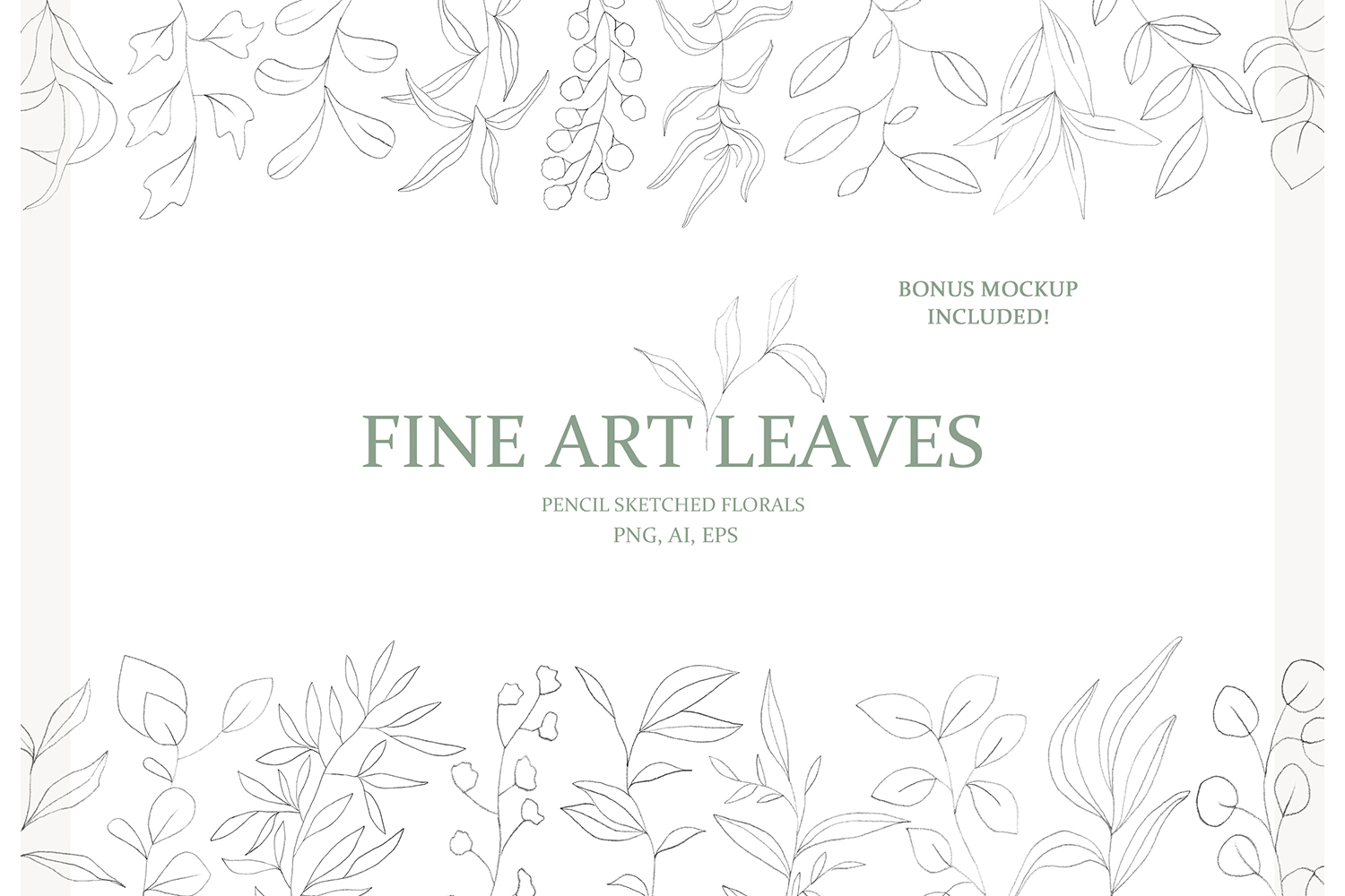 Fine Art Leaves - Pencil Sketches example image 1