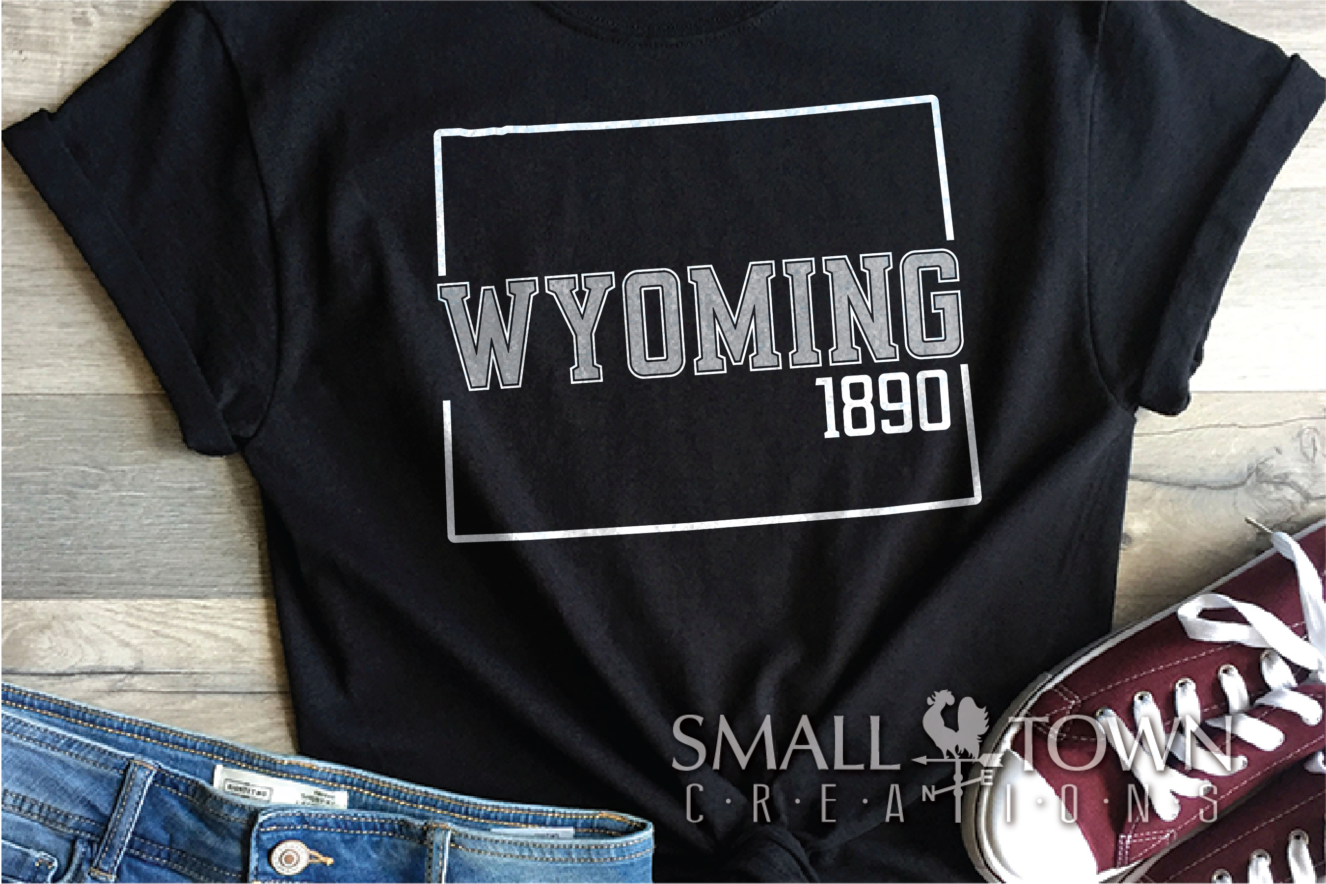 Wyoming, Forever West - slogan, Logo, PRINT, CUT & DESIGN example image 8