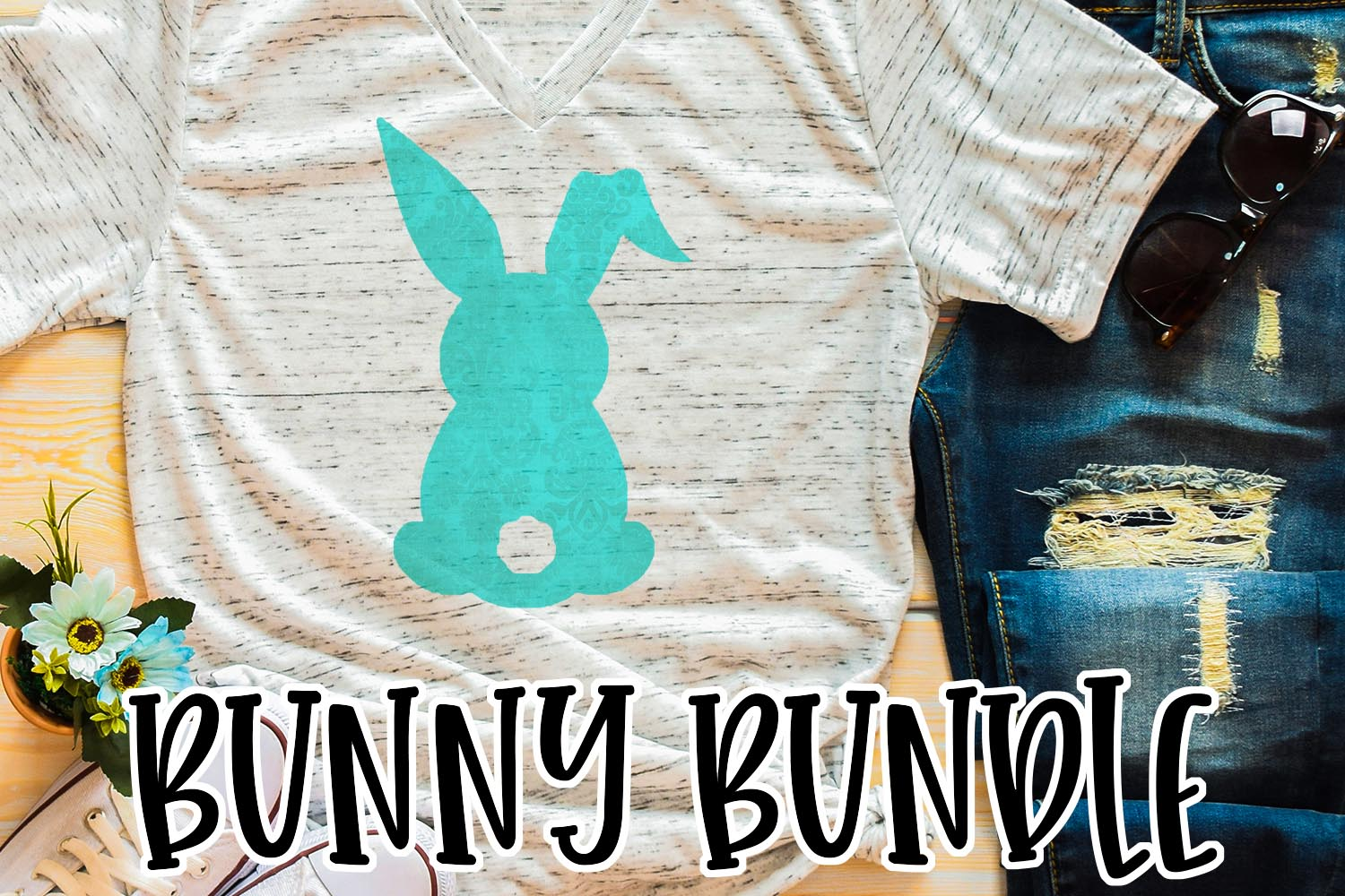 Easter Bunny Sublimation Bundle example image 1