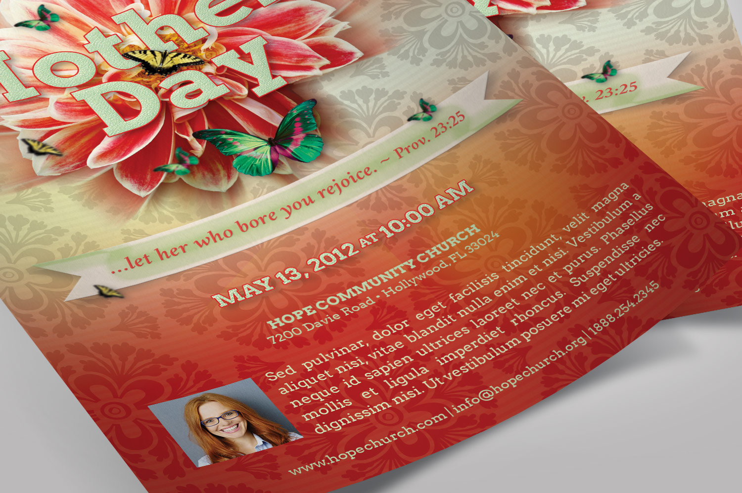 Mothers Day Flyer Photoshop Template example image 9