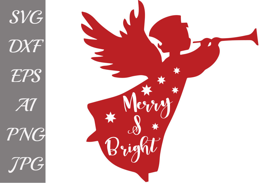 Merry and Bright Svg example image 1