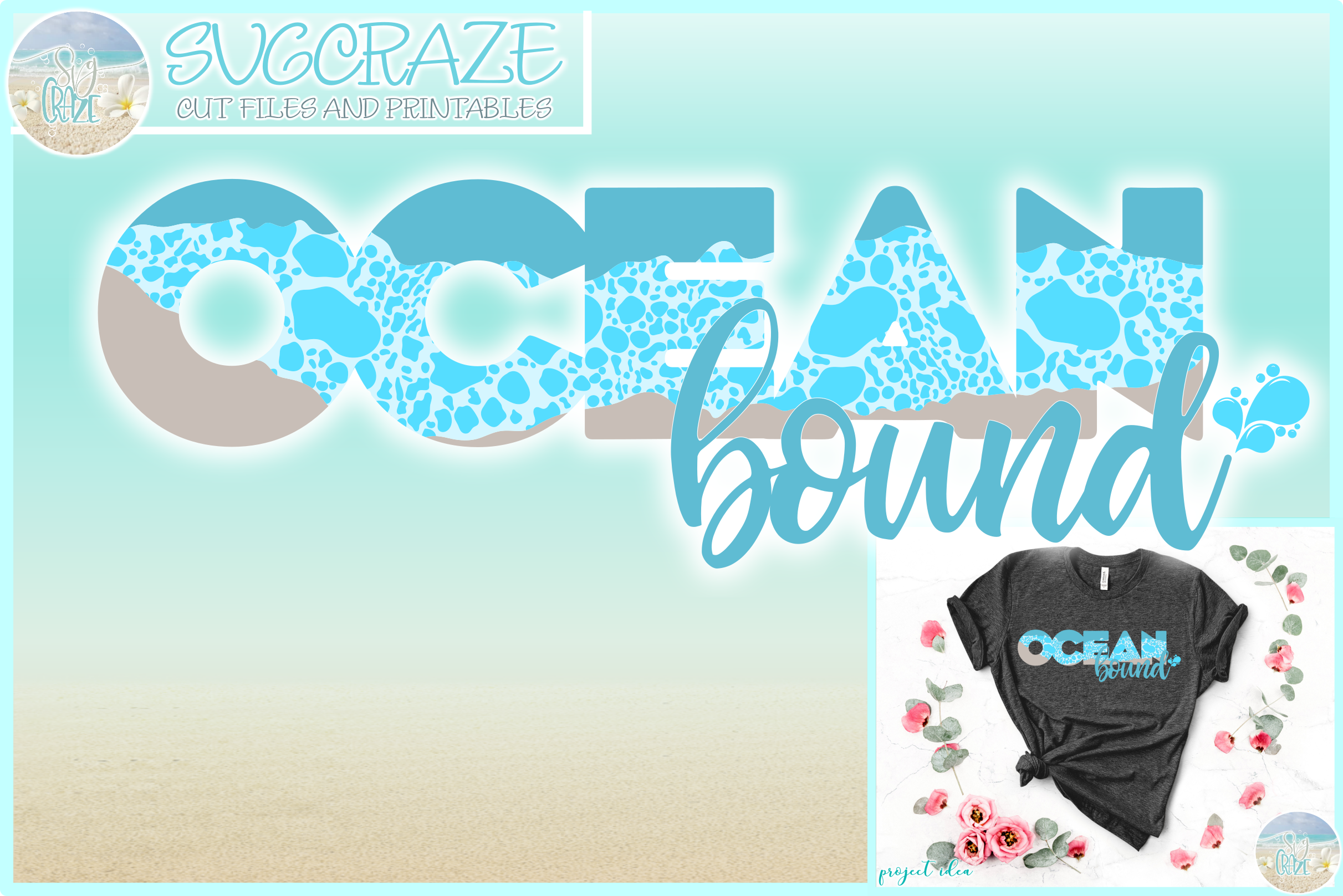 Ocean Bound Svg Dxf Eps Png Pdf Files For Cricut example image 1