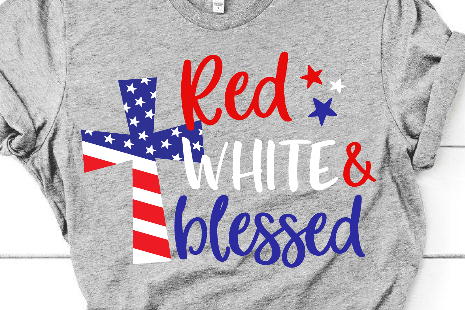 Red White and Blessed Svg, 4th of July Svg File for Cricut example image 1