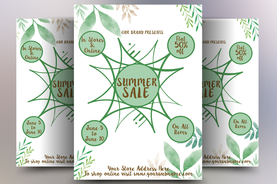 Summer Sales Flyer example image 1