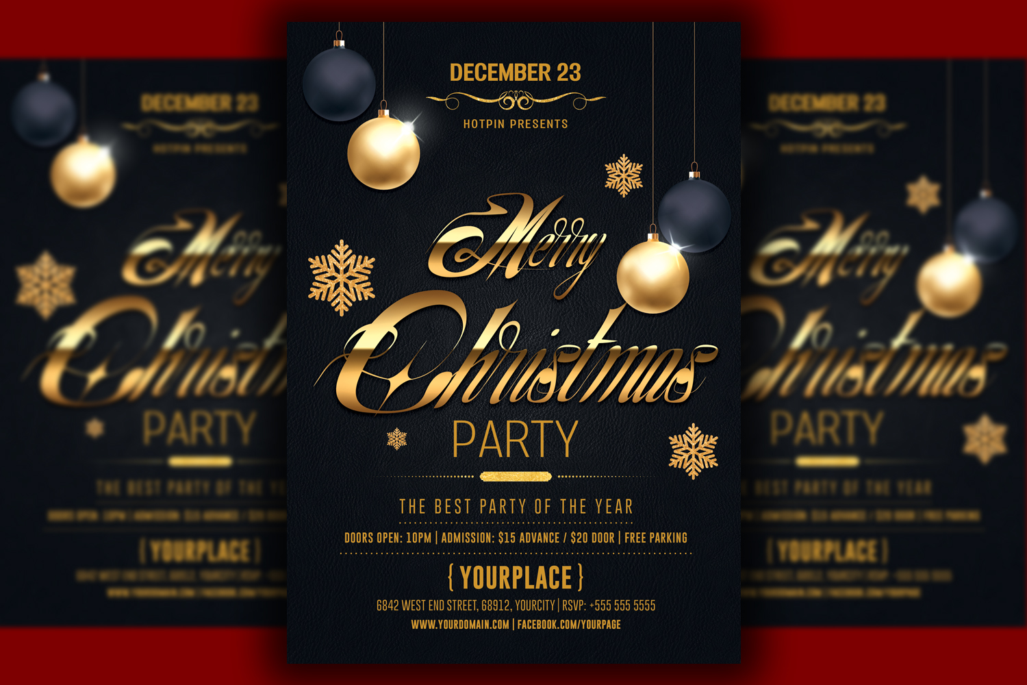 Classy Christmas Party Flyer Template example image 1