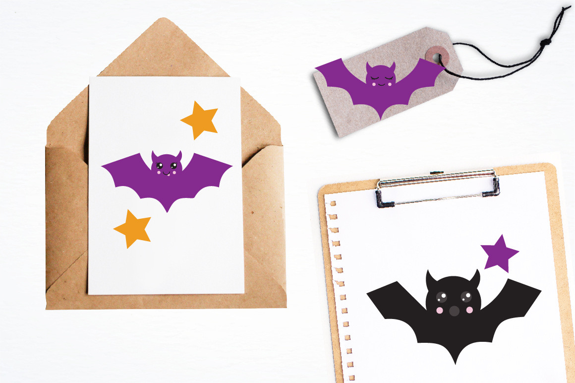 Halloween Bats graphics and illustrations example image 4