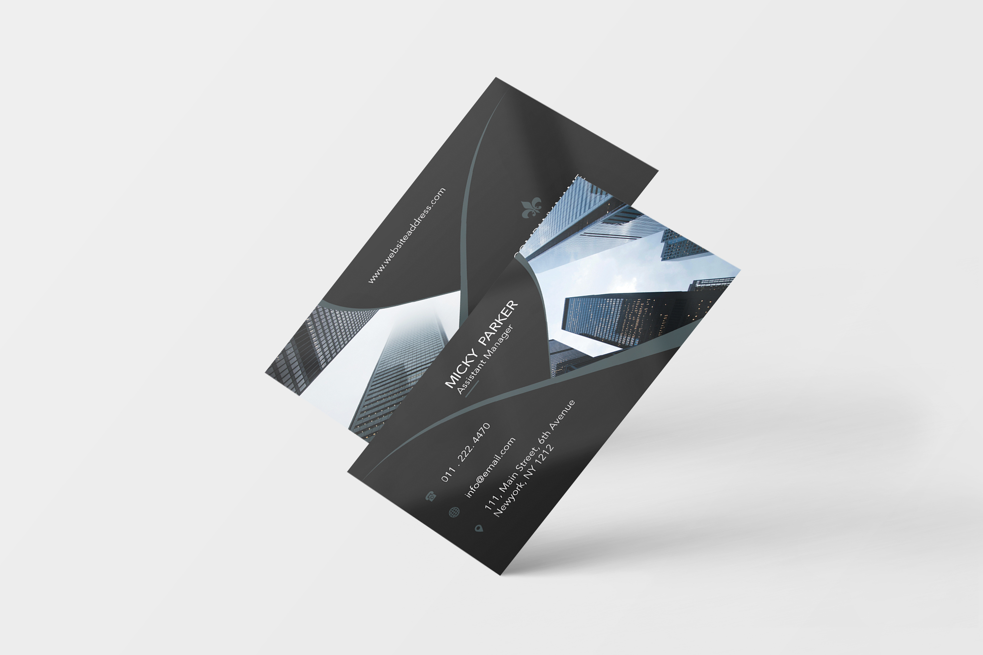 Corporate business card example image 6
