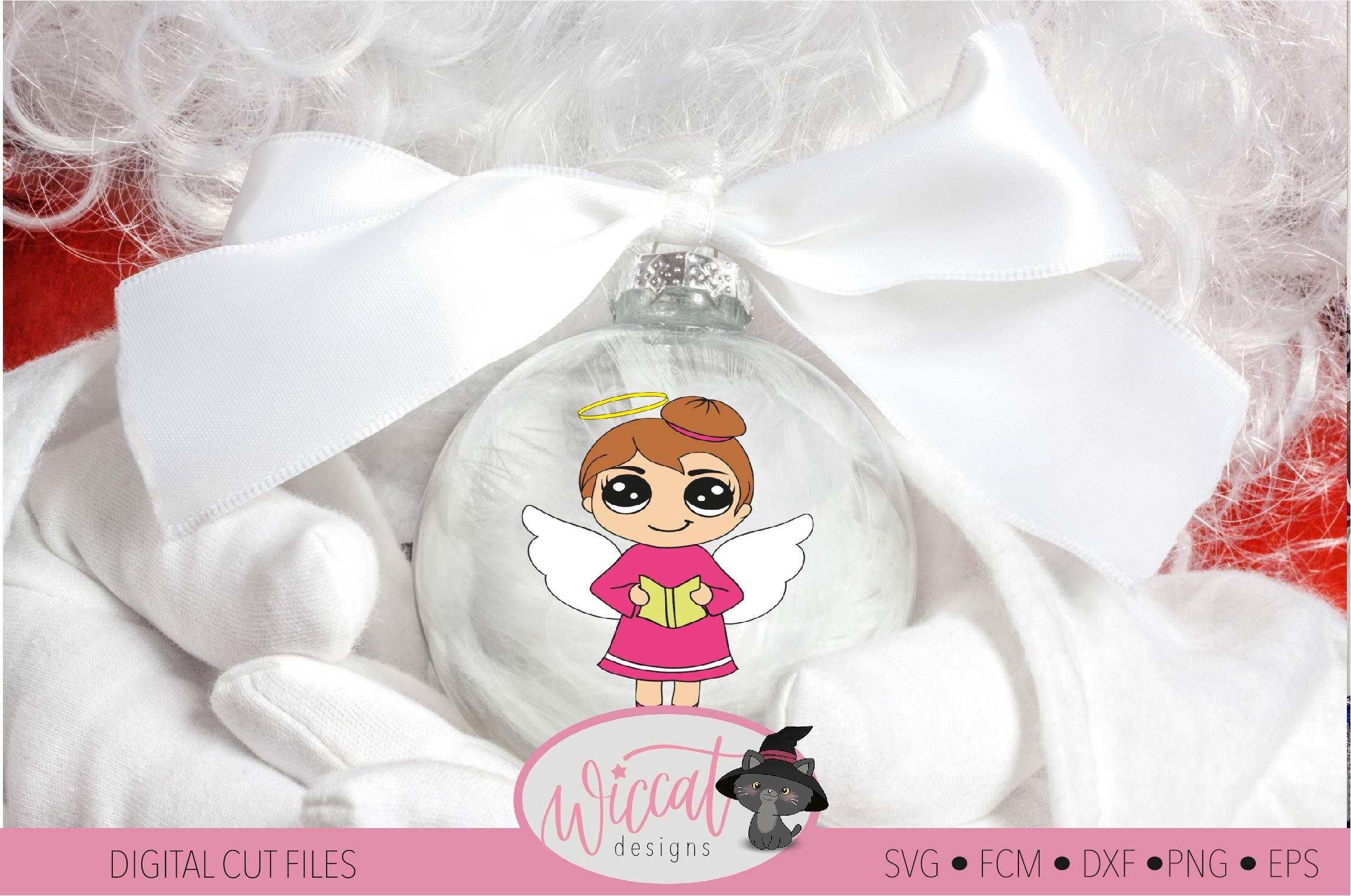 Singing Christmas angel, Kawaii angel, Cute angel girl, example image 3
