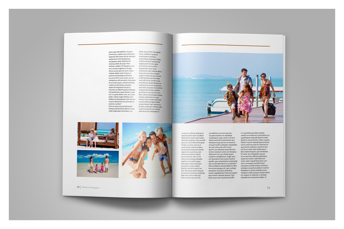Indesign Magazine Template example image 8