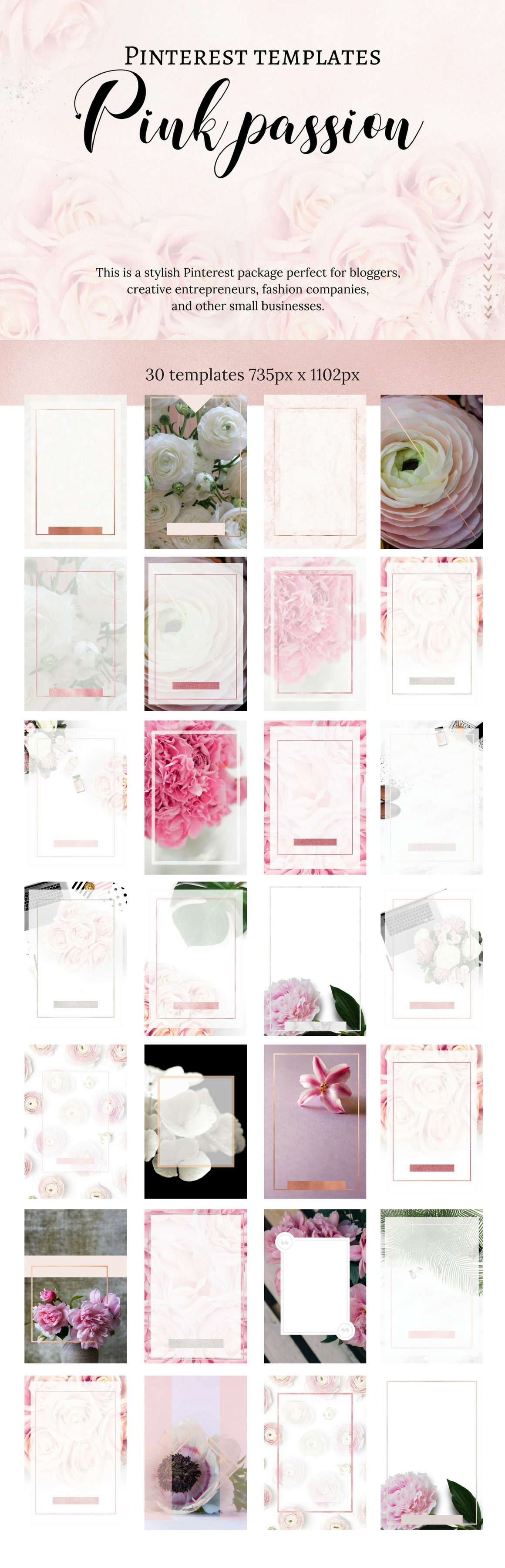 Pinterest templates- Pink passion example image 3