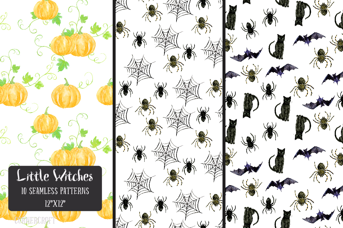 Little Witches Watercolor Design Kit example image 10