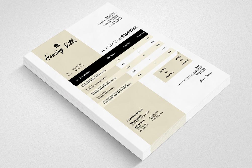 10 Professional Invoice Bundle example image 7