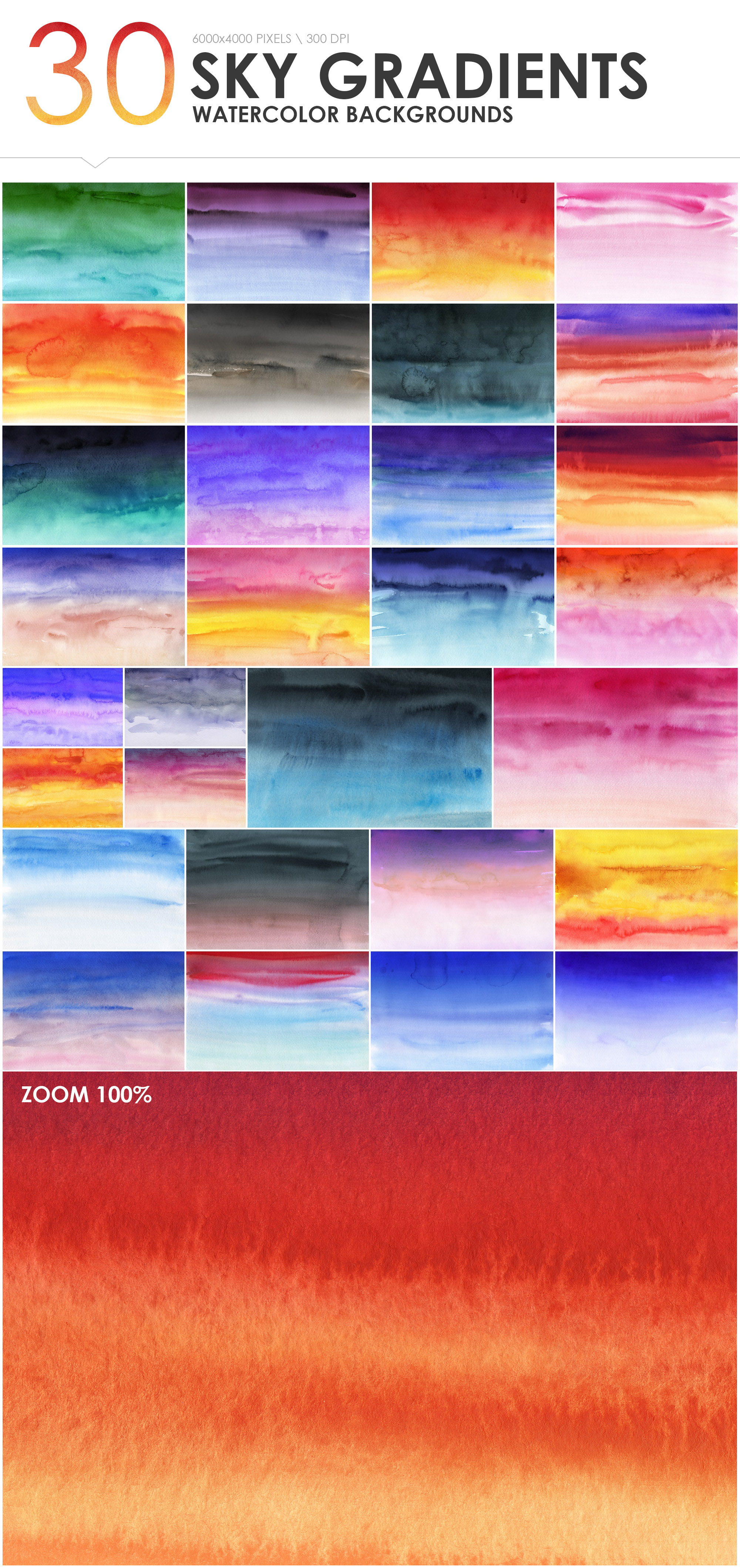 300 Diverse Watercolor Backgrounds example image 10