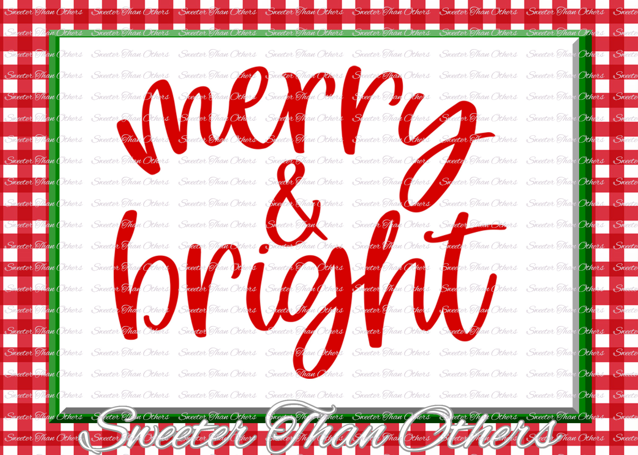 Merry and Bright Svg, Christmas svg, Santa svg example image 3
