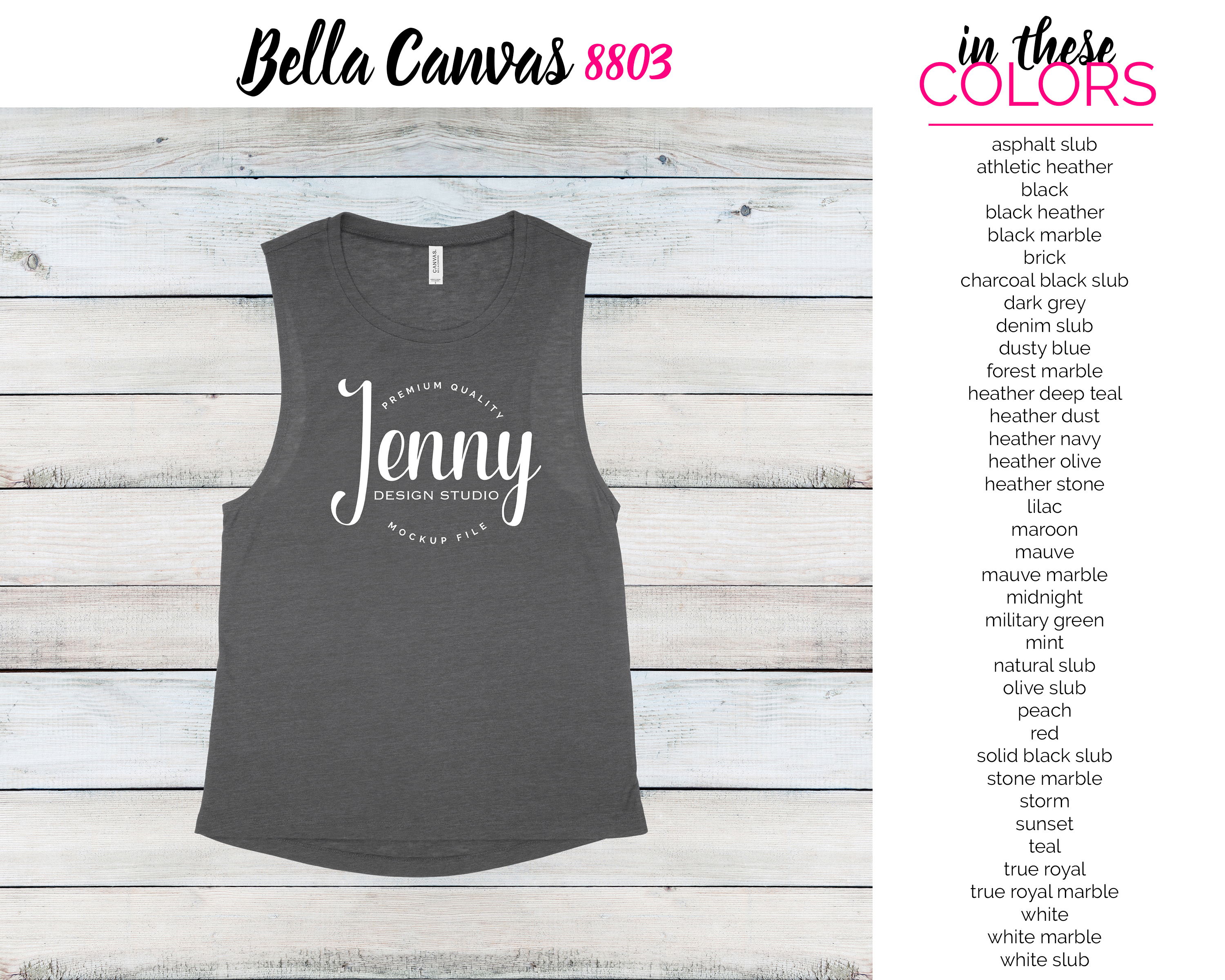 Bella Canvas 8803 Mockup Bundle, Tank Top Mockup example image 2