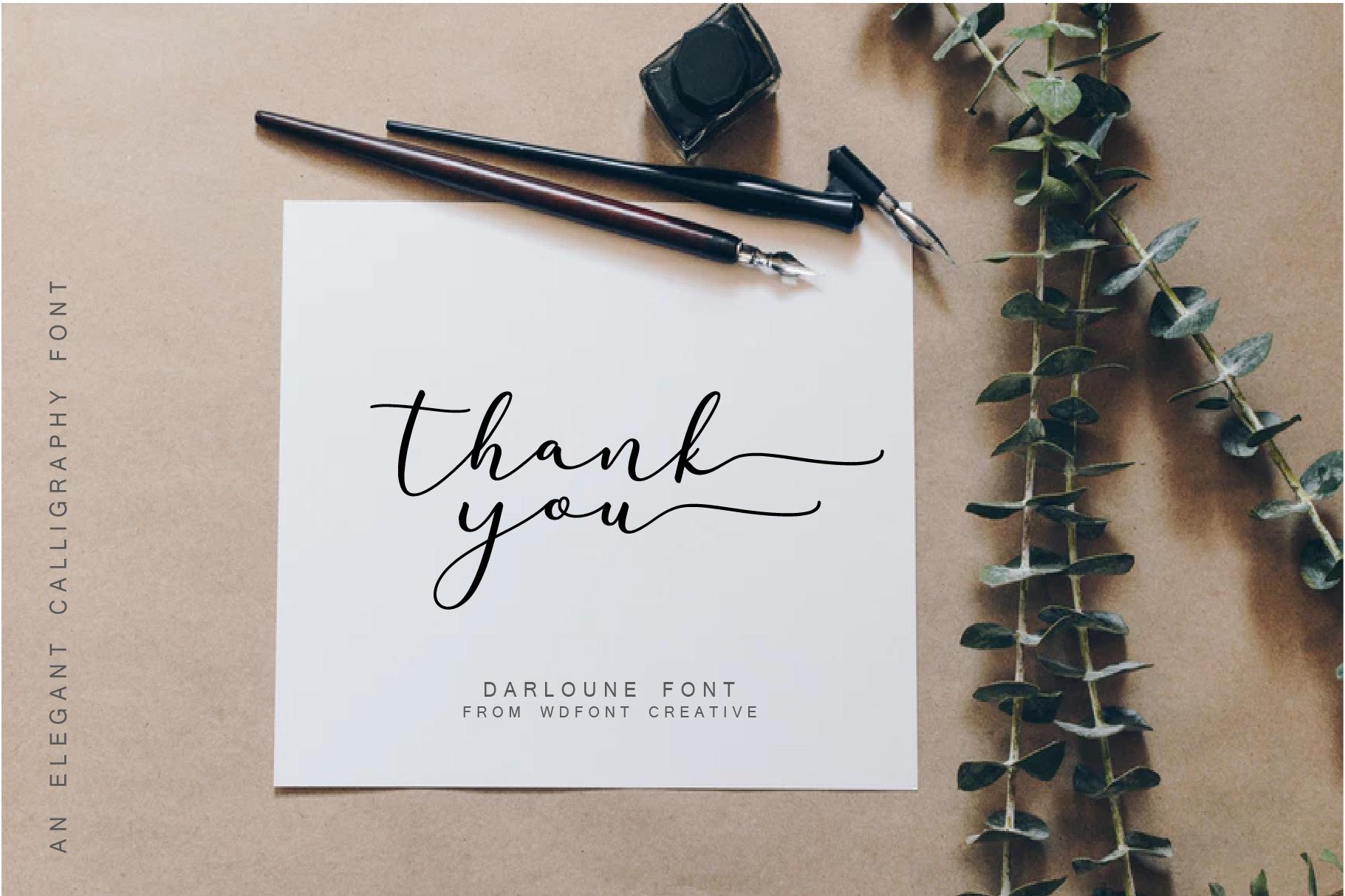 Darloune | An Elegant Calligraphy example image 6