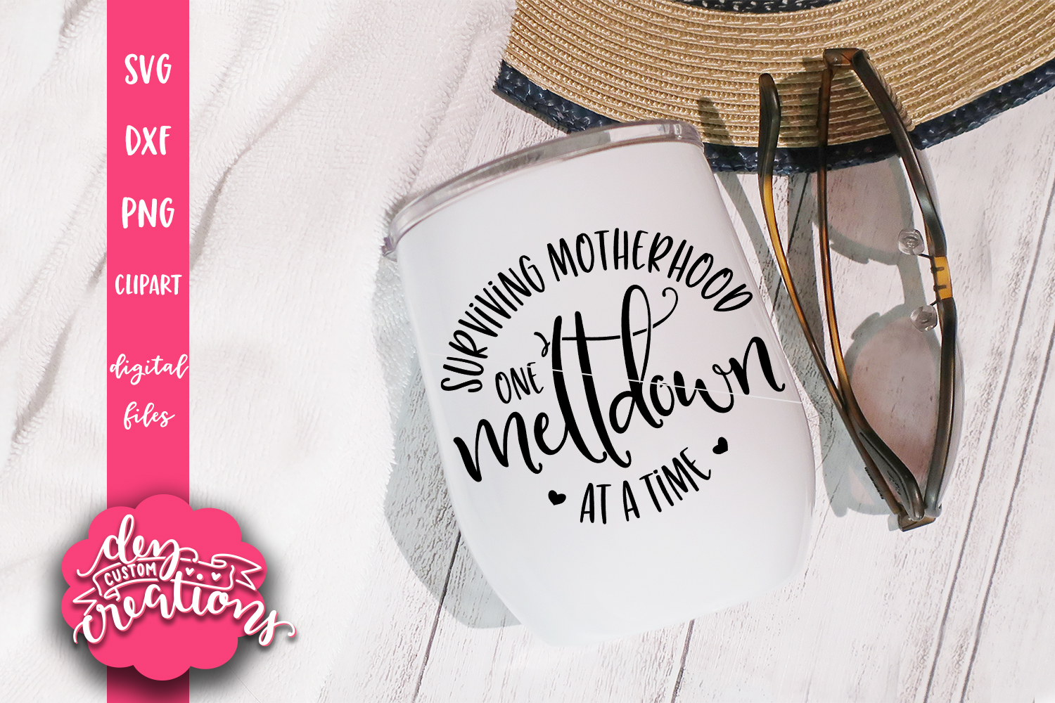 Surviving Motherhood One Meltdown at a Time 2 SVG, DXF, PNG example image 3