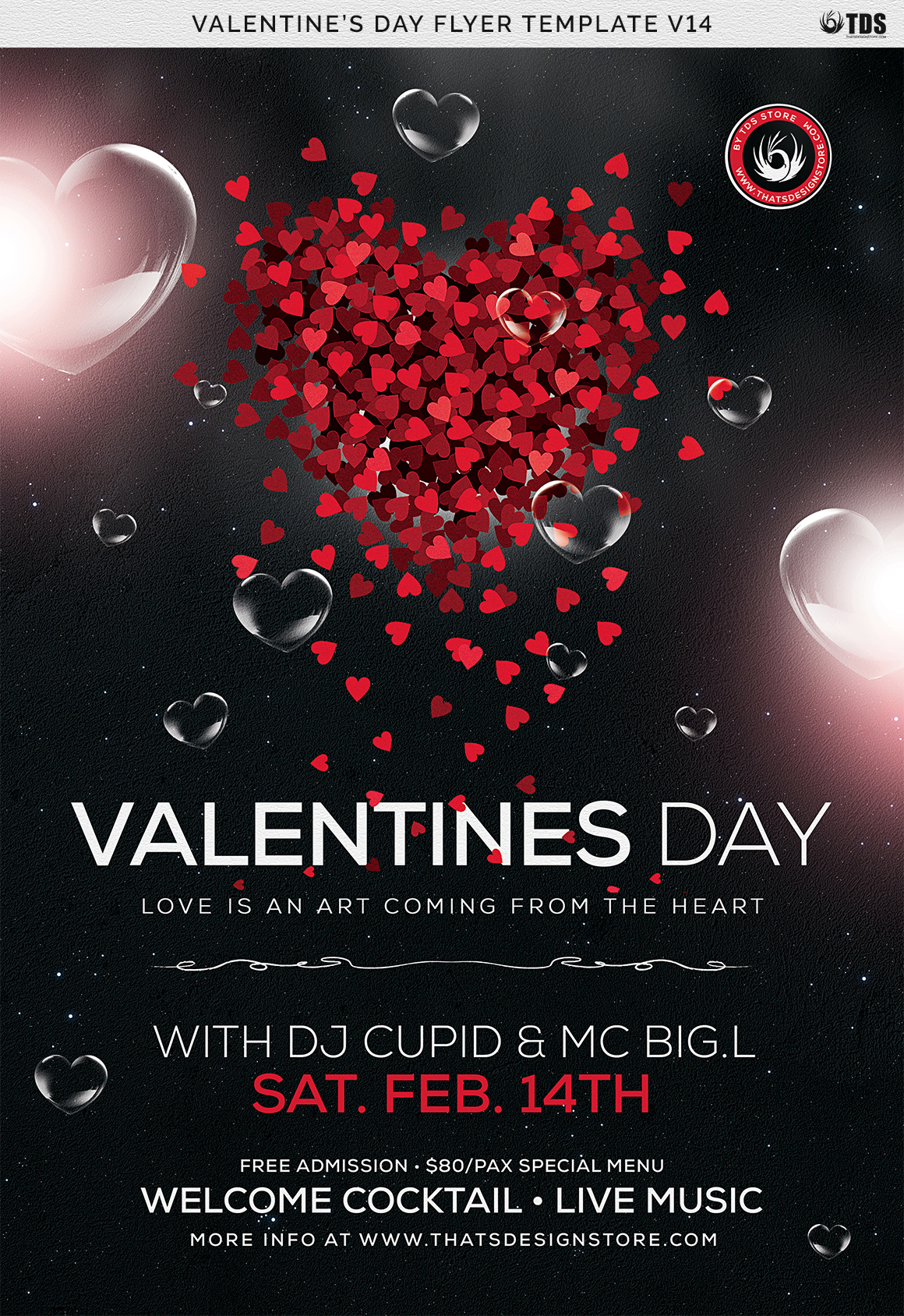 valentines day flyer template v14