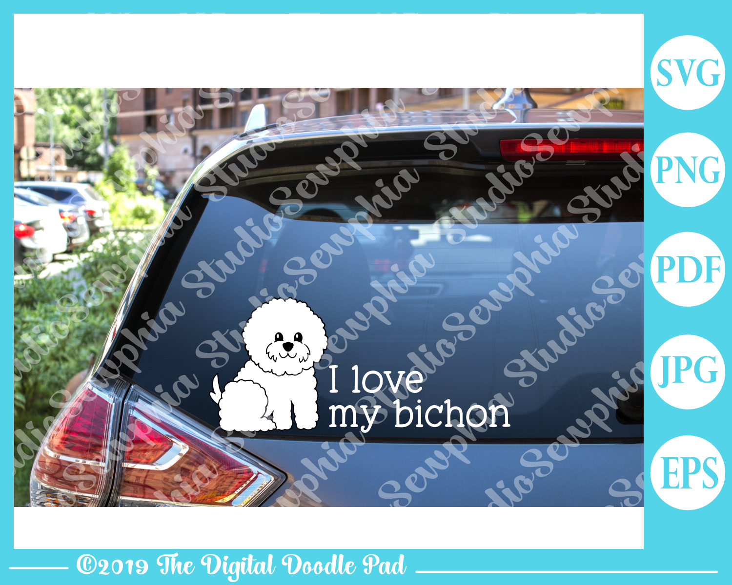 Cute Bichon 02 by Digital Doodle Pad example image 2