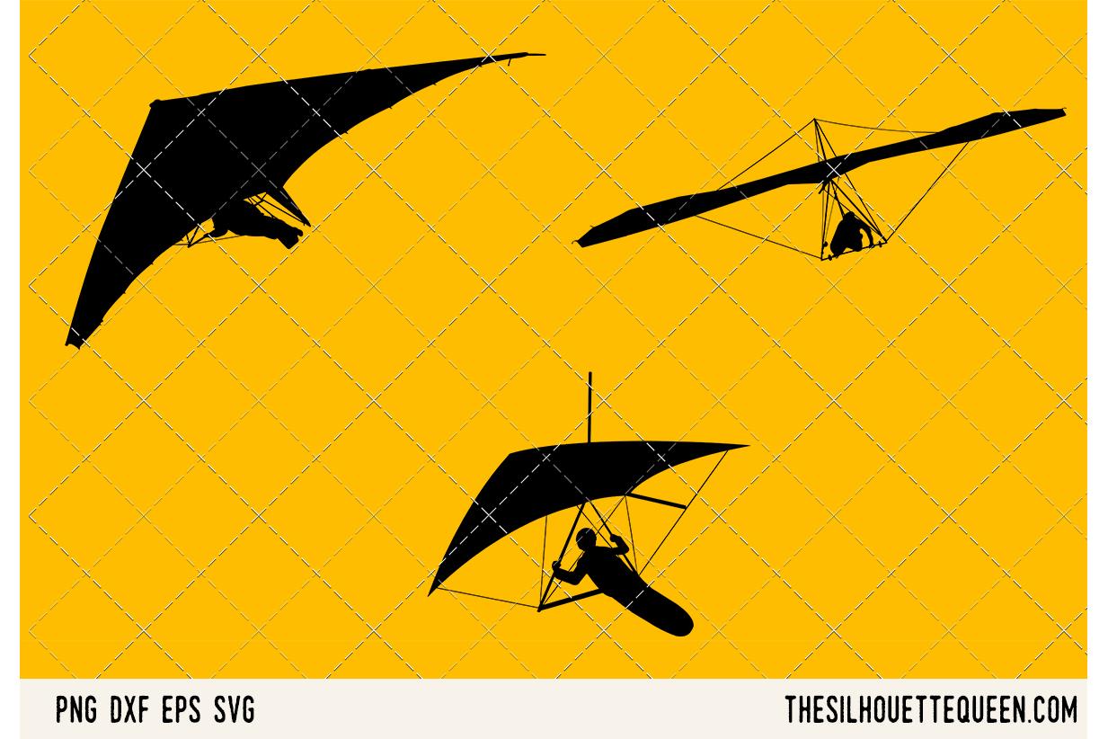 Hang Gliding SVG example image 1