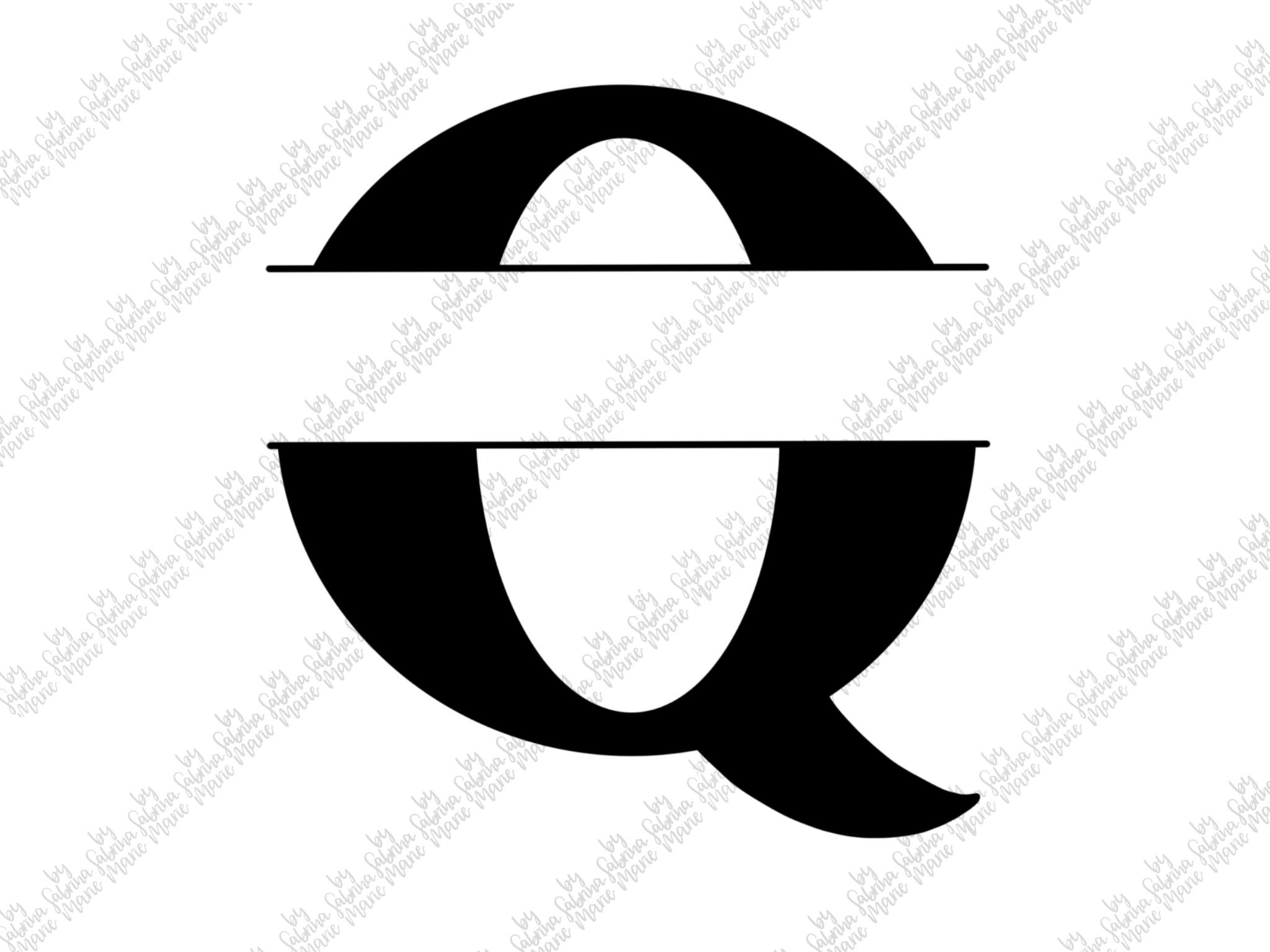 Split Monogram Q - Handdrawn - SVG/PNG example image 2
