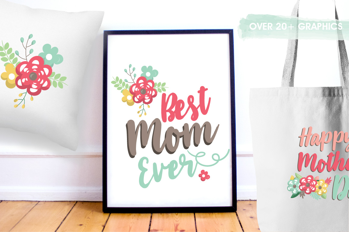Mother's day graphics and illustrations example image 5