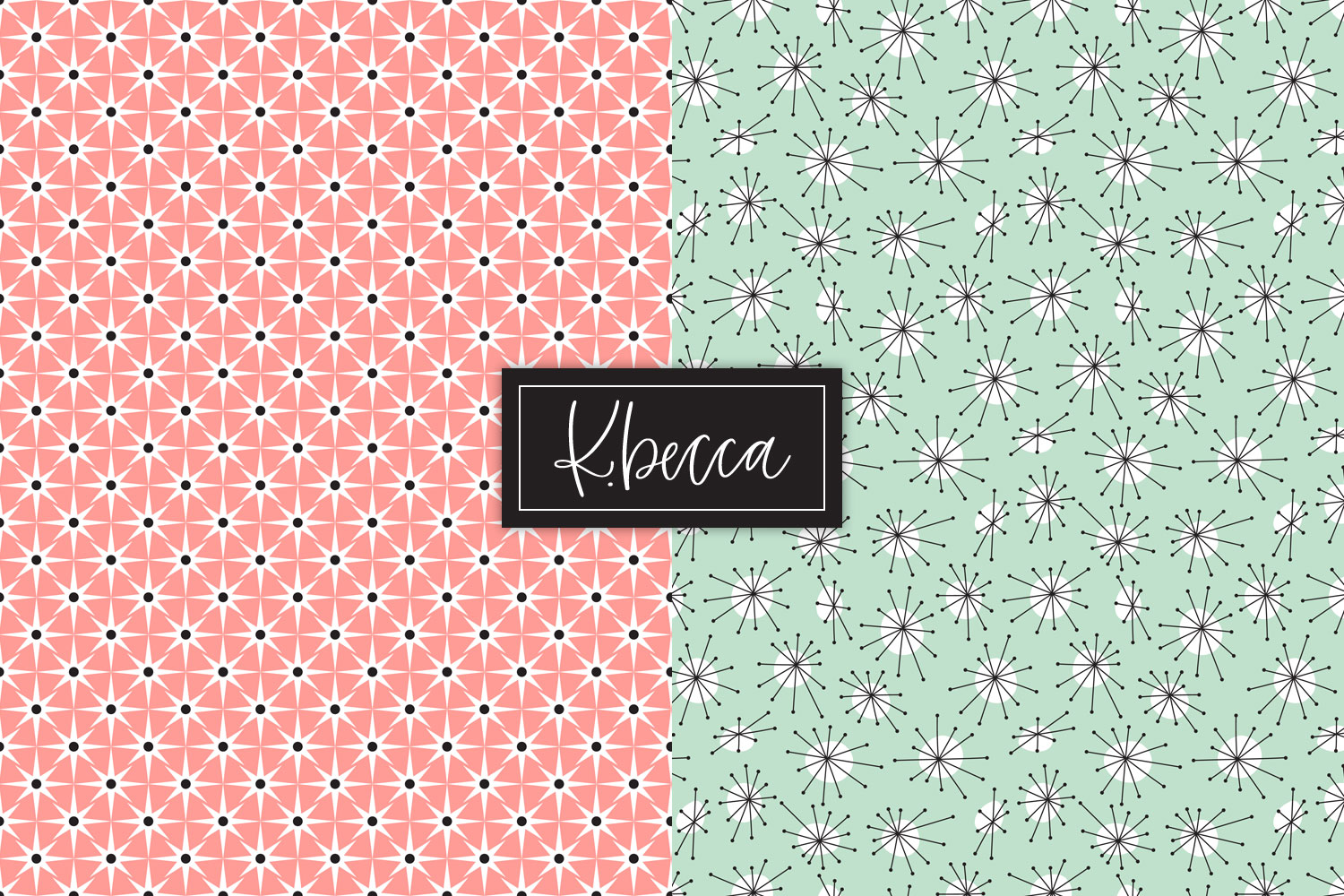 Retro 1950s Background Patterns Seamless example image 7