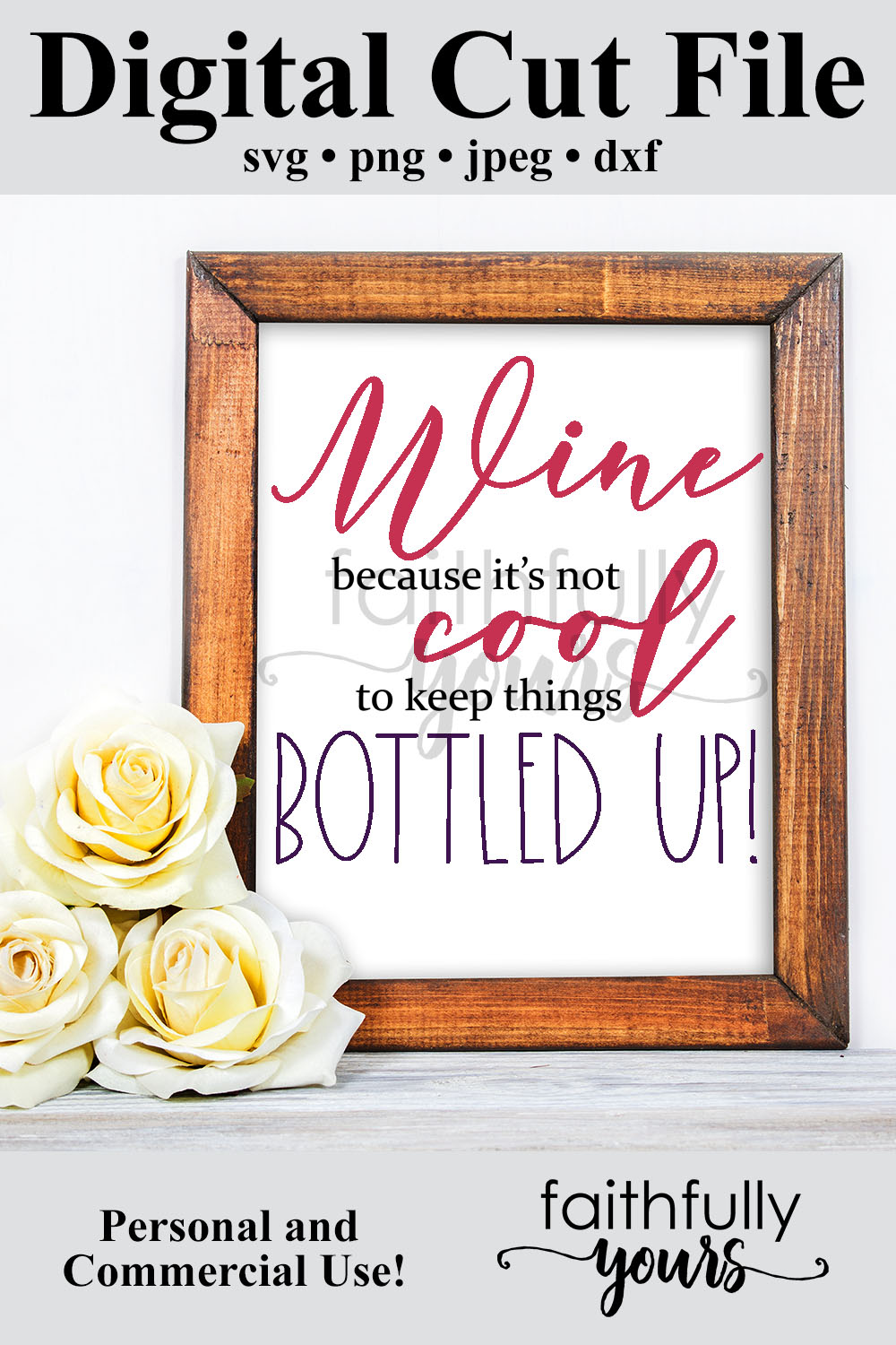 Wine because it's not cool to keep things bottled up! funny example image 5