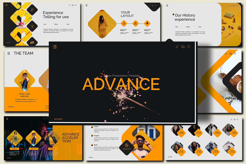 Advance Lookbook Keynote Template example image 2
