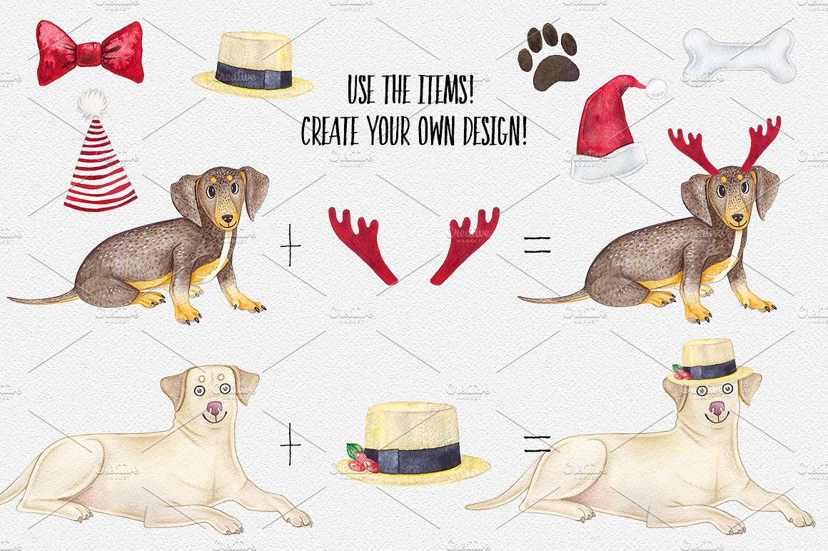 CHRISTMAS DOGS. WOOF! example image 6