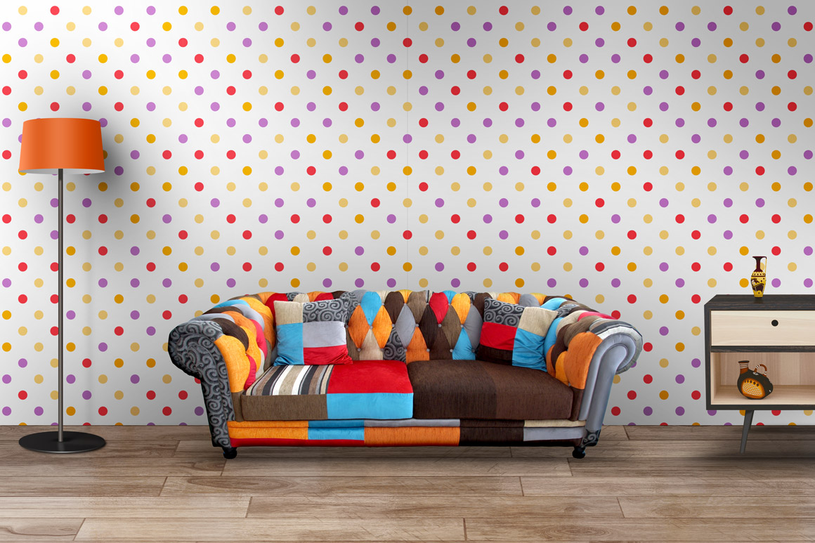 Colorful simple seamless patterns example image 5