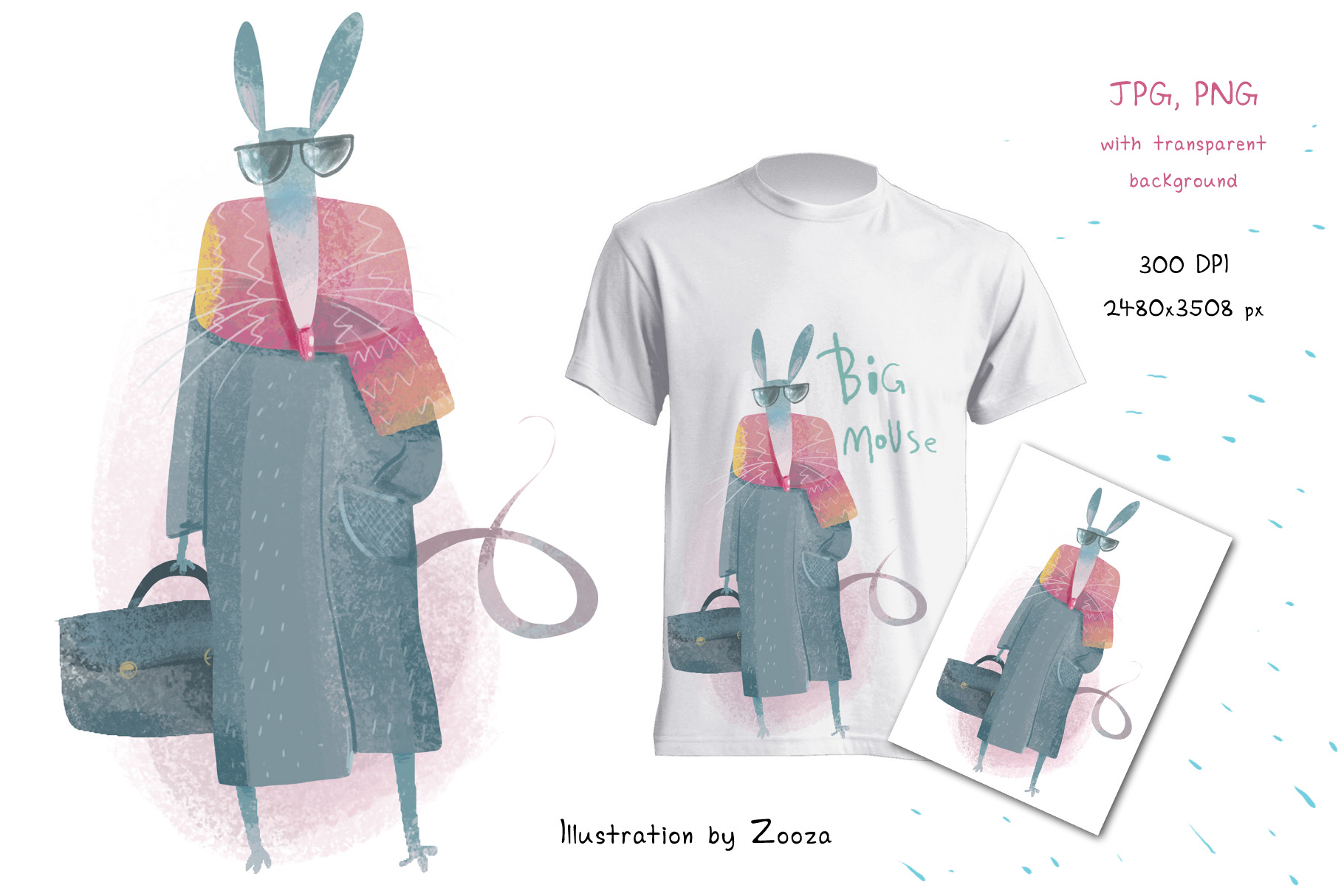 Big Mouse craft illustration example image 2