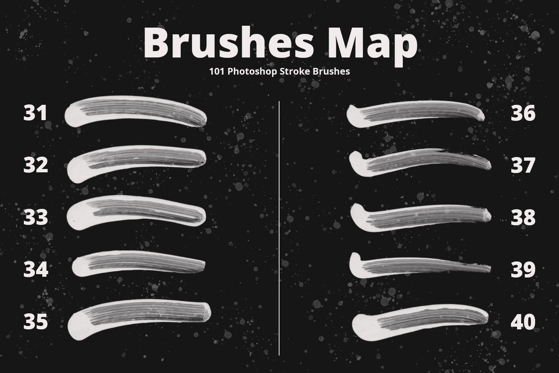 101 Photoshop Paint Stroke Brushes example image 6