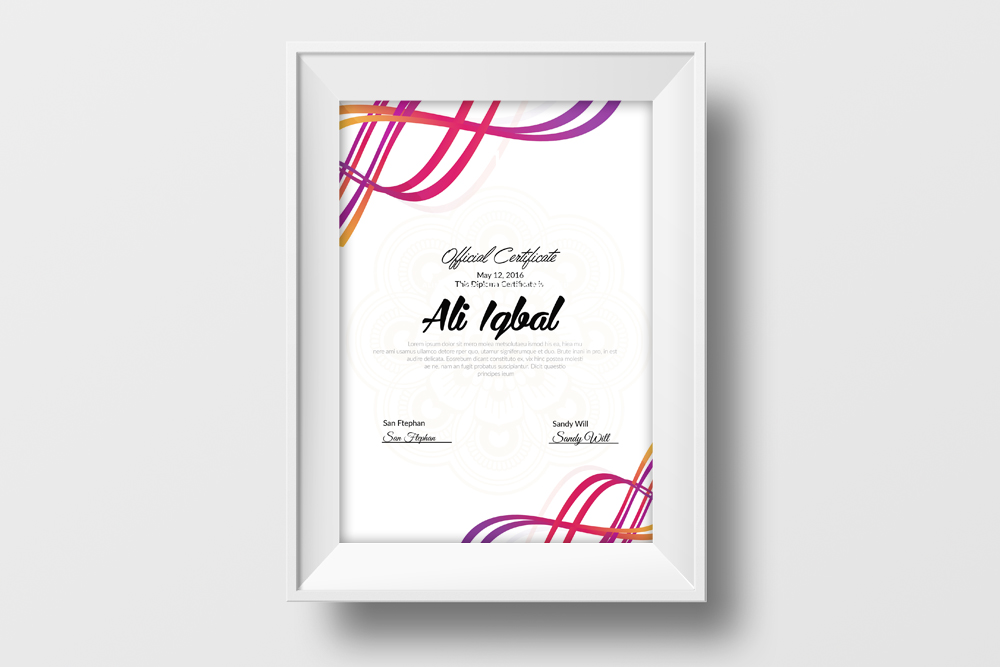 Certificate Template example image 2