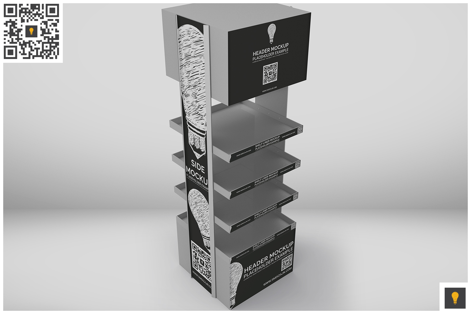 Promotional Store Shelf Stand Mockup example image 3