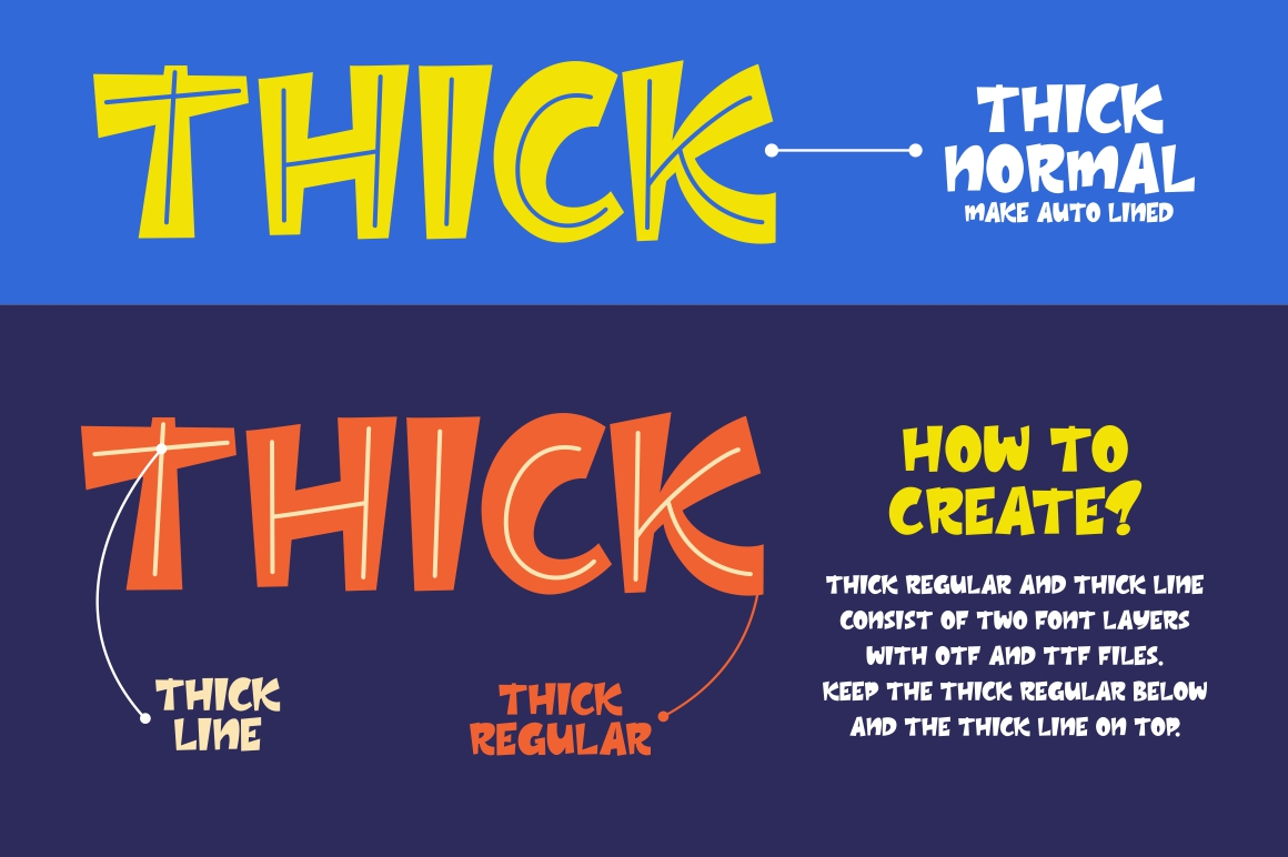 Thick - Layered Font example image 4