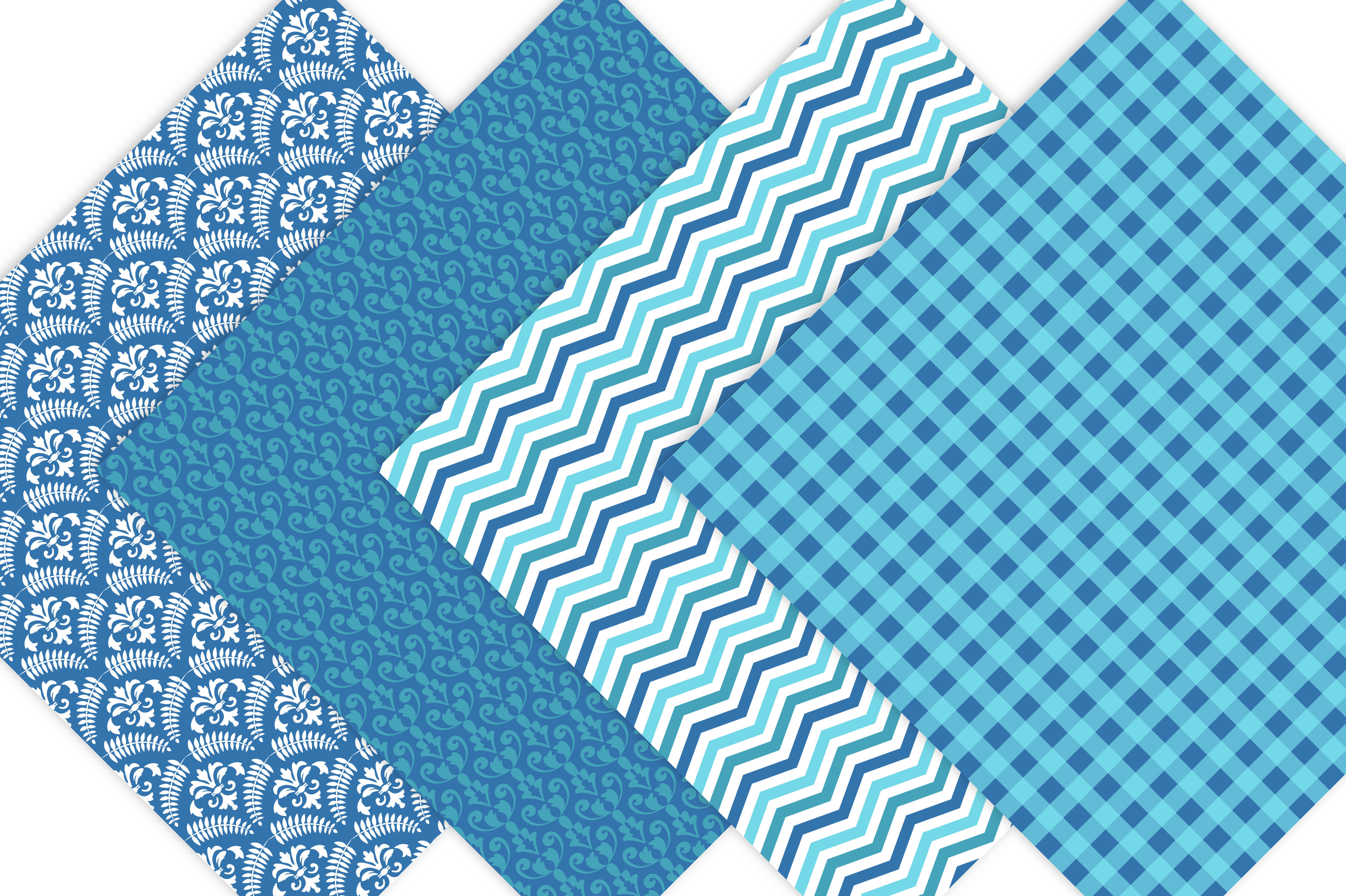 Blue Patterned Paper Pack example image 6