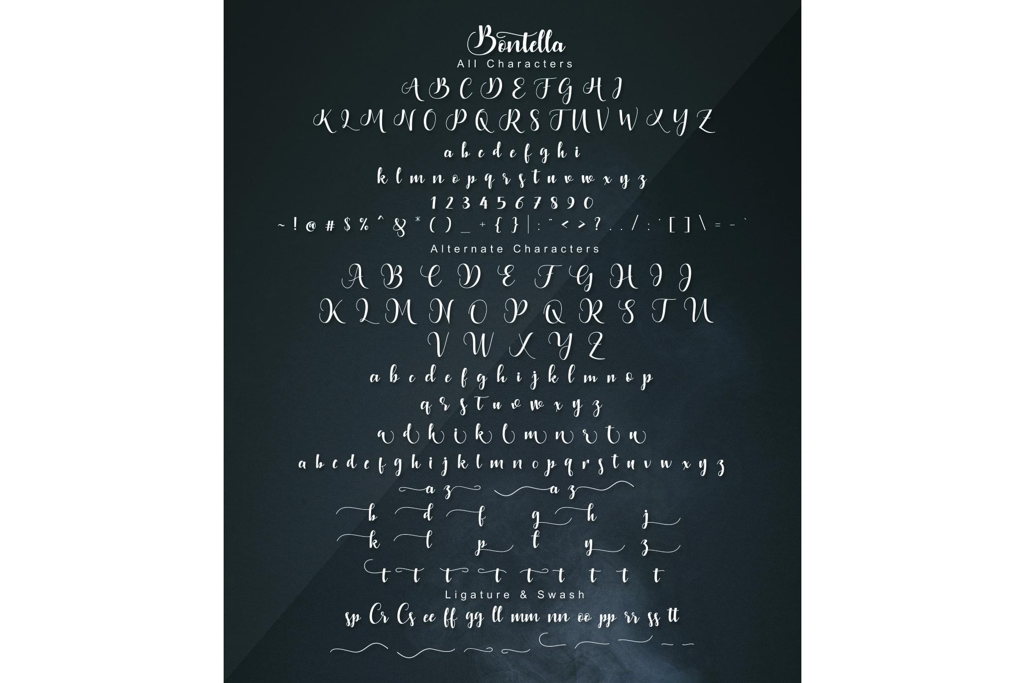Bontella 2 Style Font example image 17