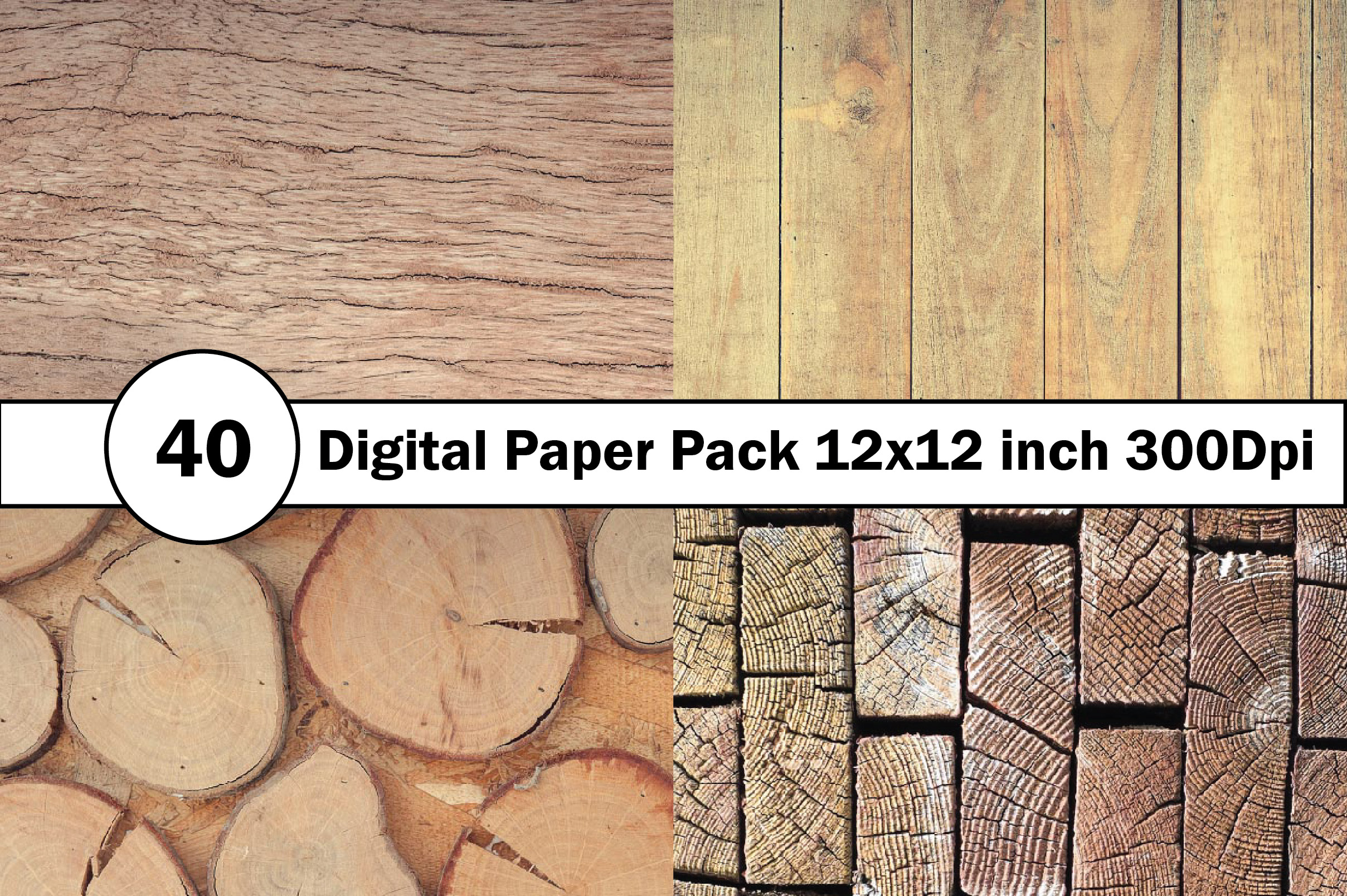 40 Digital Paper Pack 12x12 inch 300 Dpi example image 5