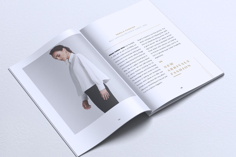 NEBULA Minimal Lookbook Magazine Styles example image 4