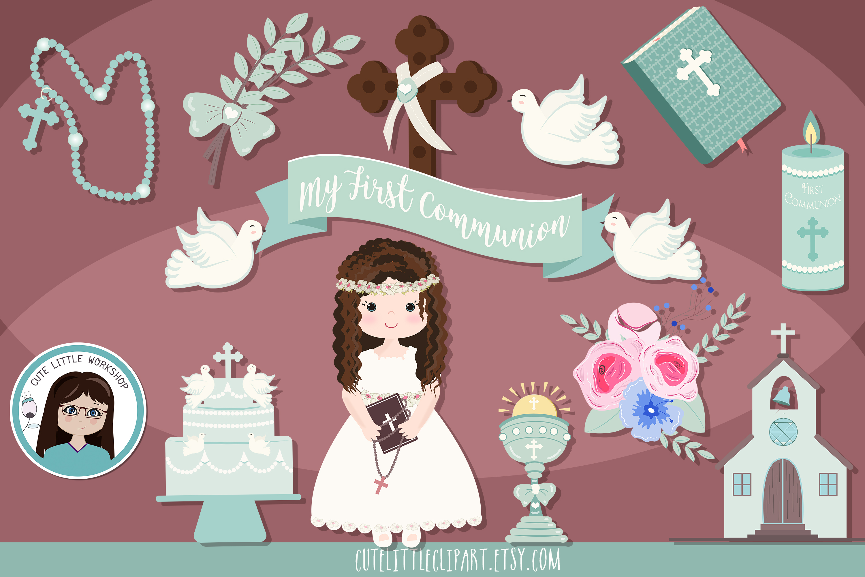 First Communion Cliparts Bundle example image 6