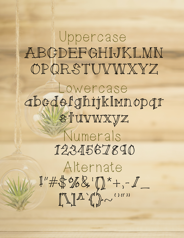 Twinning a Handwritten Font example image 2