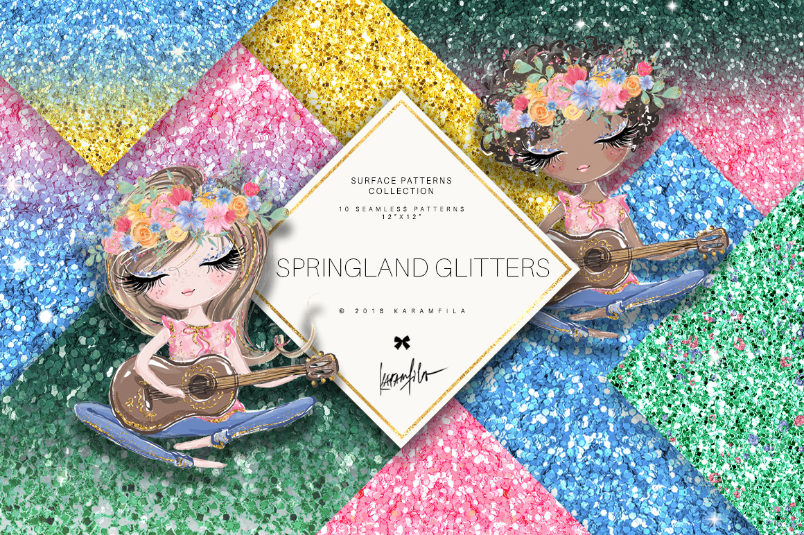Karamfila's Springland Glitter Textures example image 1