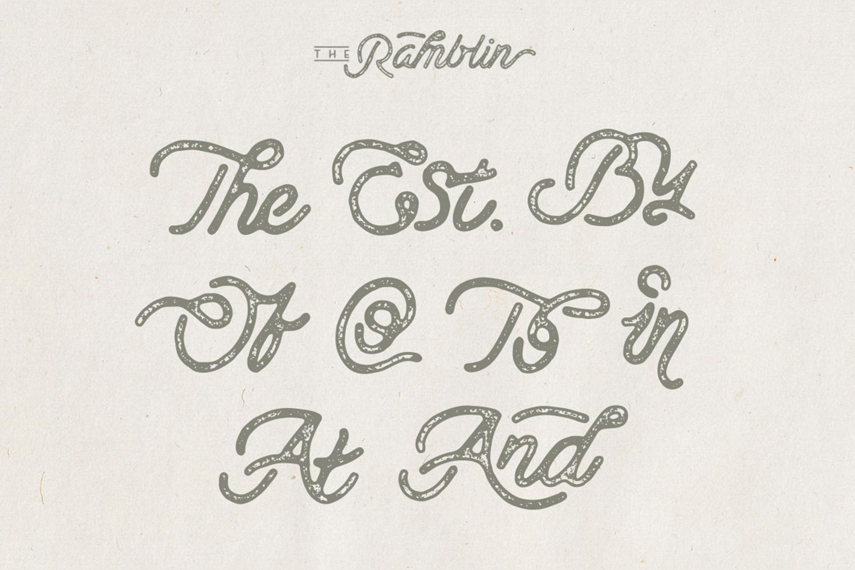Ramblin Font Duo (15% OFF) example image 10