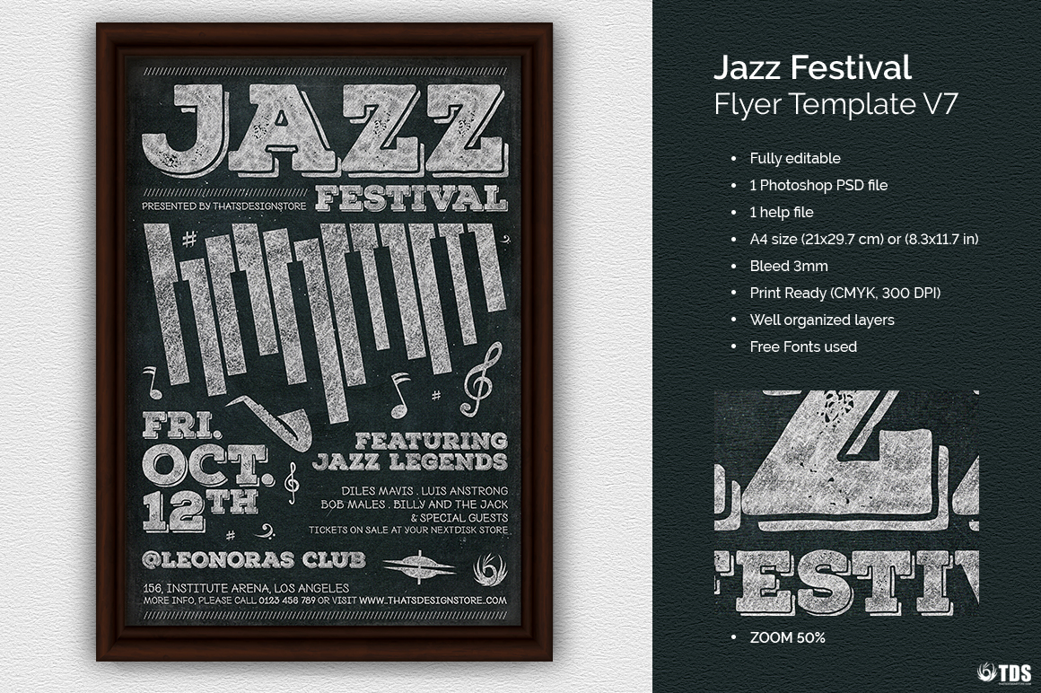 Jazz Festival Flyer Template V7 example image 1